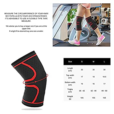 Knee Compression Sleeve,Famirosa Flex Athletics Knee Brace (Pair) Support for Running Jogging Sports Joint Pain Relief Arthritis and Injury Recovery for Men Women Elder