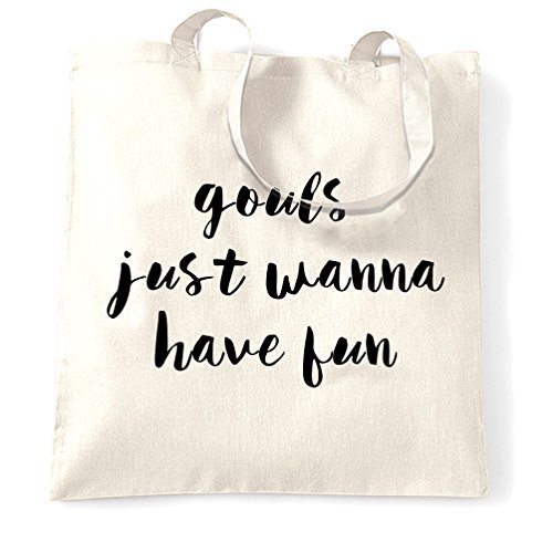 Canvas Tote Bag Gouls Just Wanna Have Fun Halloween Funny Music Danicing Party Dressing Up Makeup Good Times Reusable Ecofriendly Shopping Bag Washable Tote Bags for -