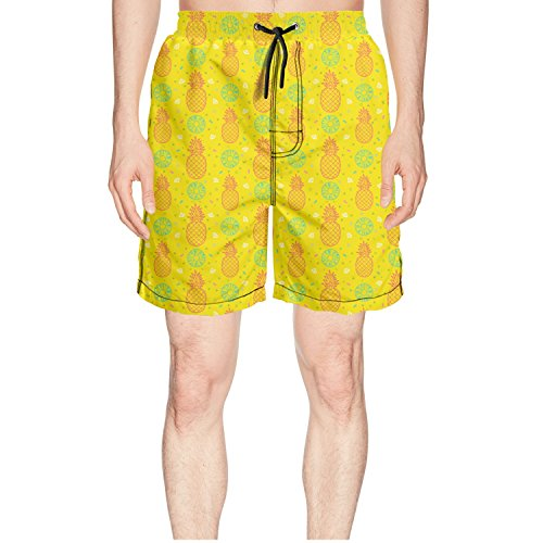 Novelty Pineapple Fruits Yellow Beautiful Cute Quick Dry Men