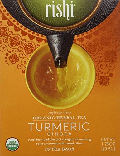 Rishi Tea Organic Herbal Tea Caffeine-Free Turmeric Ginger