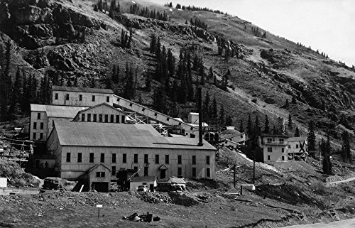 Silverton, Colorado - Exterior View of the Mayflower Mill (16x24 Fine Art Giclee Gallery Print, Home Wall Decor Artwork ()