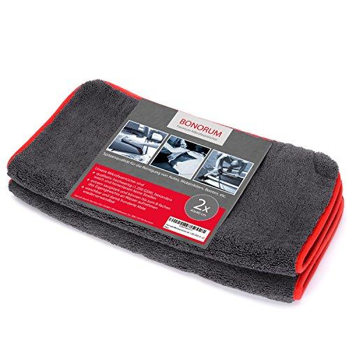 Tissus en microfibres - qualité professionnelle absolue - Une puissance d'absorption double à travers les 1 200 GSM (!) -absorbe jusqu'à 10 fois son propre poids - parfait pour nettoyer les voitures, les well-wreapped