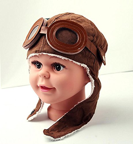 Anndeeson Baby Kid Winter Fashion Earflap Pilot Cap Beani...