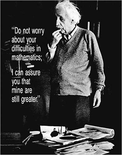 Einstein - Do Not Worry Quote. Photo Print Poster