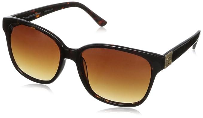 bbf1efa22cd4 O by Oscar de la Renta Eyewear Women's SSC5104 Rectangular Sunglasses,Tortoise,174  mm