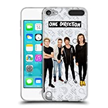 Official One Direction White Group Icon Soft Gel Case for Apple iPod Touch 5G 5th Gen