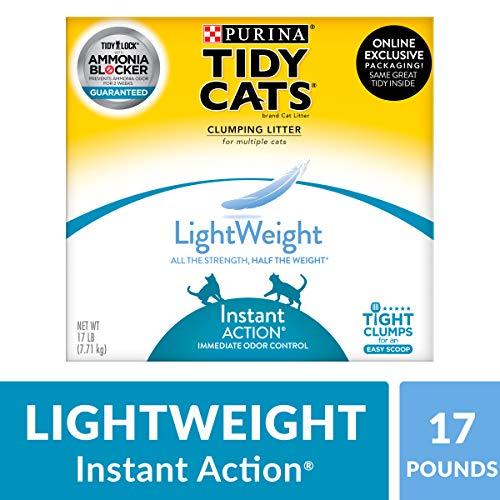 Purina Tidy Cats Light Weight, Low Dust, Clumping Cat Litter, LightWeight Instant Action Multi Cat Litter - 17 lb. Box (Lite Cat Litter)