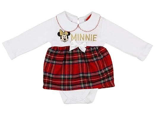 Disney Minnie Mouse Baby Madchen Festlicher Body Weihnachts Body