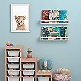 """Wallniture Utah 24"""" White Bookshelf for Kids Room"""