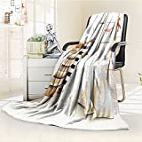 Luxury Collection Ultra Soft Plush Fleece Lightweight Patterened Bags for Toys and Pillows on a Floor in Baby Room All-Season Throw/Bed Blanket(60''x 50'')