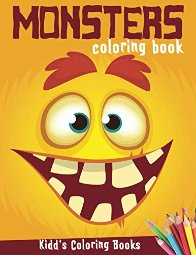 Monsters Coloring Book: Funny Halloween Activity Book for Kids Ages 4-8, Boys or Girls, Full of Cute Illustrations of Monsters, Zombies, ... Frankenstein and more (Kidd's Coloring Books)]()