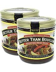 Better Than Bouillon Organic Sodium Reduced Seasoned Roasted Beef Base, 76 Servings 2 PK x 16 Oz / 454 Grams, Total 32 Oz (Less Sodium)