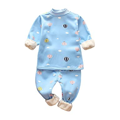 zolimx_bebé Ropa para Dormir, Recién Nacido Niñas Niños Imprimir Grueso Caliente Tops Pantalones Trajes Conjuntos Bebe Invierno: Amazon.es: Ropa y ...