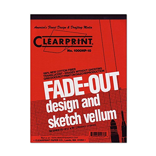 Archival Quality Vellum 10x10 Gridded Design & Sketch Pad - Clearprint (24 in. L x 18 in. ()