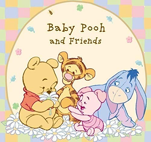 Disney Winnie the Pooh Baby Pooh and Friends Pooh Bear Tigger Piglet Eeyore Edible Cake Topper Image ABPID09205 - 1/2 sheet