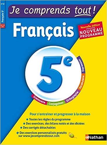 Amazon Fr Je Comprends Tout Francais 5e Nouveau