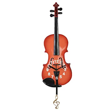 Amazoncom Giftgarden Violin Gifts Wall Clock Decor for Music