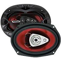 BOSS Audio CH6930 Altavoces para automóvil: 400 vatios de potencia por par y 200 vatios cada uno, 6 x 9 pulgadas, rango completo, 3 vías, vendido en pares, fácil montaje