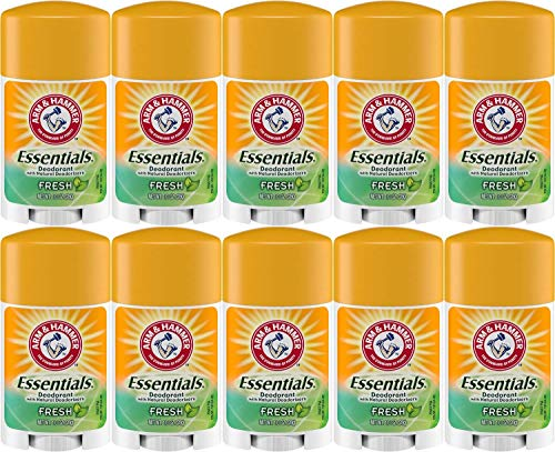 Arm & Hammer Essentials Solid Deodorant, Fresh, 1 Ounce Travel Size (Pack of - Travel Deodorant