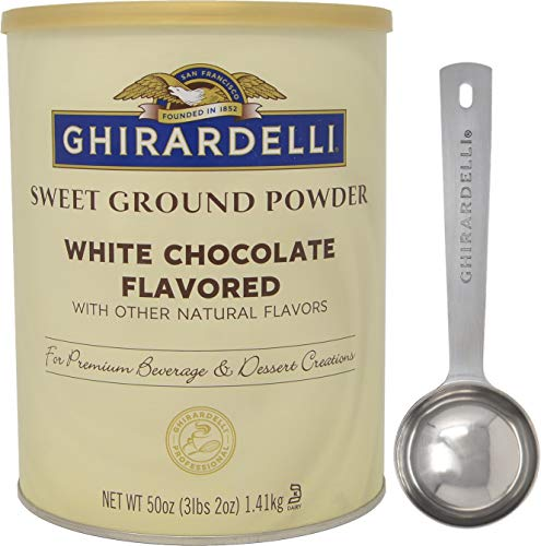 Ghirardelli - Sweet Ground White Chocolate Gourmet Flavored Powder 3.12 lb - with Exclusive Measuring Spoon