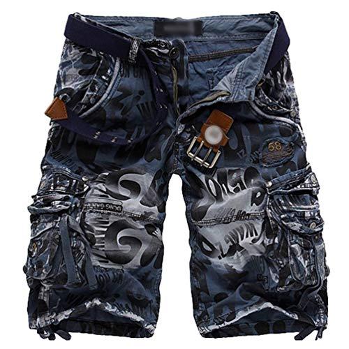 tasca Pantaloncini Con Uomo Multi Pantaloni Bermuda Nisengs Cargo Blu In Corti Mimetiche Shorts dx0U6UnW