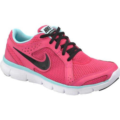 Nike Flex Erfaring Run Rosa / Sorte Damer Joggesko Dyp Kongeblå / Levende Svovel