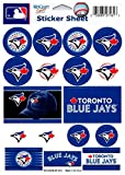 "(HCW) Toronto Blue Jays Vinyl Sticker Sheet 5""x7"" Decals MLB Licensed Authentic"