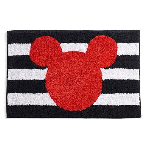 Mickey Mouse Stripe Bath Rug