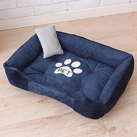 IGZNBA Productos para Mascotas Camas para Perros Grandes Nidos De Gatos Estaciones Cálidas Mascotas Establecidas. Azul Marino XS: Amazon.es: Productos para ...