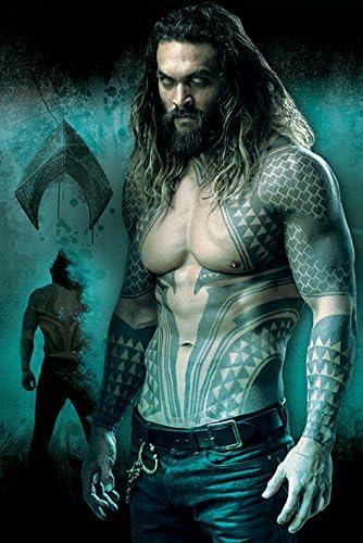Multicolore Unica Aquaman Poster PIC Justice League Tidal Wave