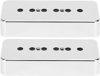 2Pcs Gitaar Pickup Cover Zilver Verchromen ABS Soapbar Pickup Cover voor Elektrische Gitaar Onderdelen Muziekinstrument Accessoires