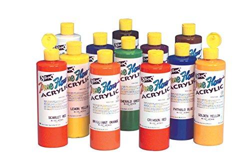 sax-true-flow-acrylic-paint-pint-set-of-12-assorted-colors