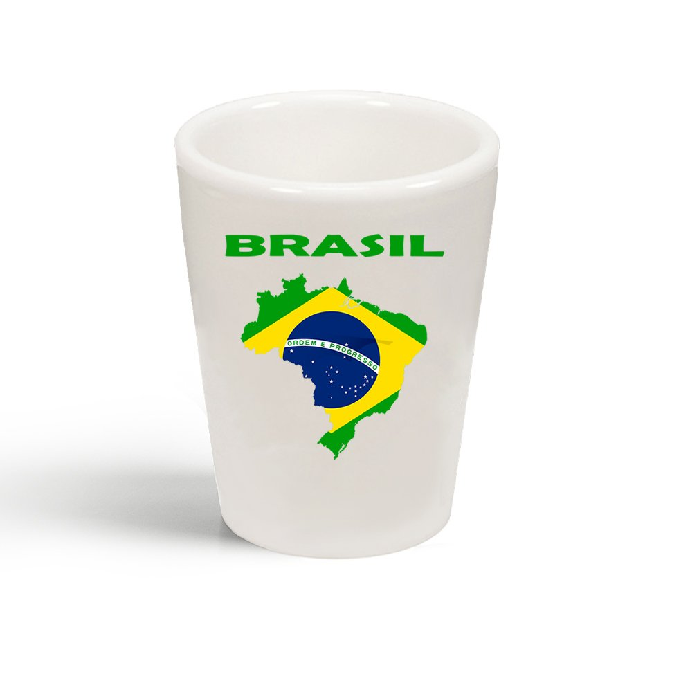 Style In Print Brasil Brazil Original Country Name Ceramic Shot Glass Cup