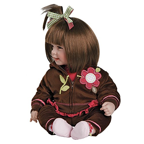 """51CJmYX550L - Adora Toddler Workout Chic 20"""" Girl Weighted Doll Gift Set for Children 6+ Huggable Vinyl Cuddly Snuggle Soft Body Toy"""