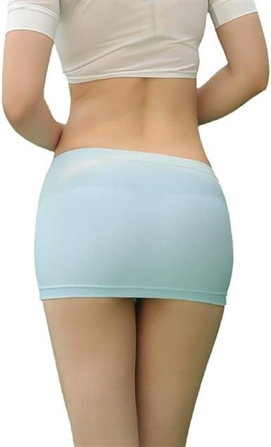 LUOSI Mujeres Lady Minifalda Transparente Minifaldas de Malla de ...