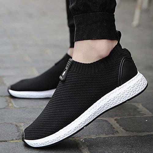 Zapatos De Moda Deportivo Zapatillas Calzado Transpirable Casual Zapatillas La ALIKEEYHombres Negro wPdEYY