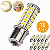 10 Pcs Extremely Super Bright 1156 1141 1003 BA15S 68-SMD LED Replacement Light Bulbs for RV Indoor Lights(10-Pack, Soft White (4000K-4500K Color Temputure))