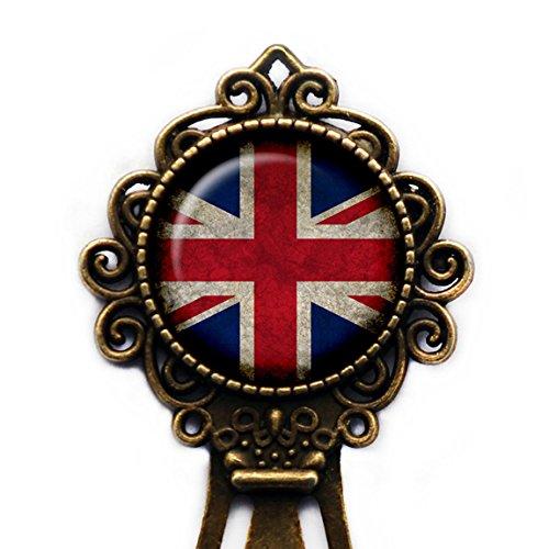 United Kingdom UK Commonwealth Union Jack Flag Bronze Bookmark