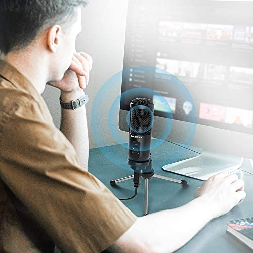 USB Microphone for Computer, SUDOTACK Condenser PC Mic Kit for Streaming, Recording, Podcasting, Gaming, YouTube, Skype, Zoom, Twitch, Compatible with Laptop Desktop Windows macOS (ST-600)