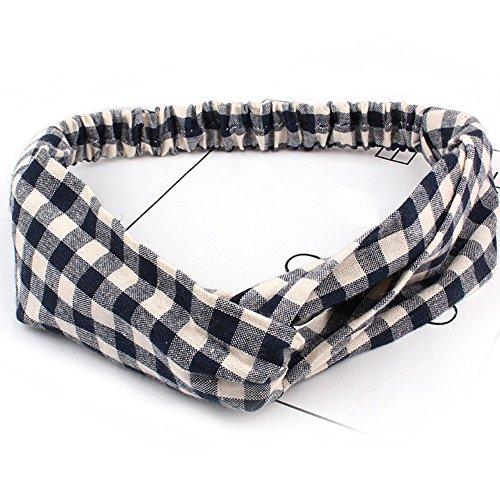 HaloVa Headband, Elastic Cross Head Wrap Hair Bands Headwear