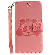 DOOGEE X5 Case, Doogee X5 Pro Case, COOSTOREEU Cute Cartoon Pattern Panda PU Leather Wallet Stand Flip Case Cover for DOOGEE X5 / Doogee X5 Pro, Pink