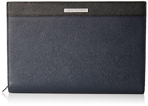 Bi Color Wallet - Armani Exchange Men's Bicolor Saffiano Zip Around