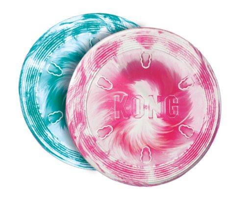 Kong Flyer Frisbee (KONG Puppy Flyer Dog Toy, Colors May Vary)