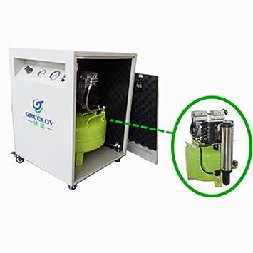 Bestdental 40L médica Compresor De Aire Motor 155L/min para 2 silla Dental + Secador + Silent armario: Amazon.es: Coche y moto