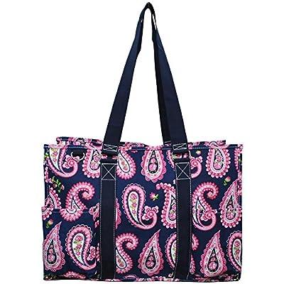 "N. Gil All Purpose Organizer 18"" Large Utility Tote Bag 3 -2017 Spring New Pattern"