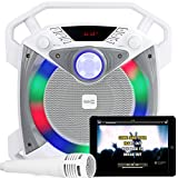 SingCube 10 Watt Rechargeable Bluetooth Karaoke Machine with Lights, Microphone and Voice Changer, 10W (RJPS100)