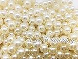Lolasaturdays Pearls 1-Lbs loose beads vase filler (8mm, Ivory)