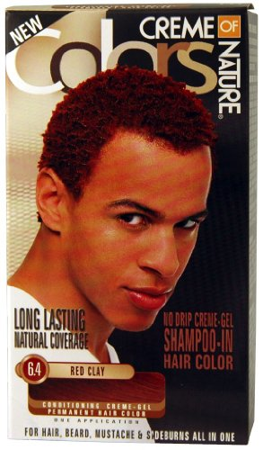 Cream of Nature Men's Gel Hair Color 6.4 - R/Cly Kit (Pack of 2)