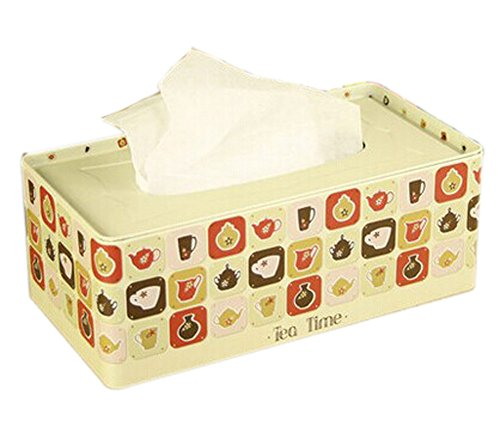 Elegant Rectangle Cups Pattern Tissue Holder Tissue Box Cover