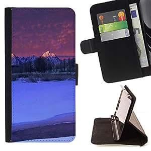 For Samsung Galaxy S6 EDGE (NOT S6) Plus / S6 Edge+ G928 Case , Naturaleza Hermosa Forrest Verde 142- la tarjeta de Crédito Slots PU Funda de cuero Monedero caso cubierta de piel
